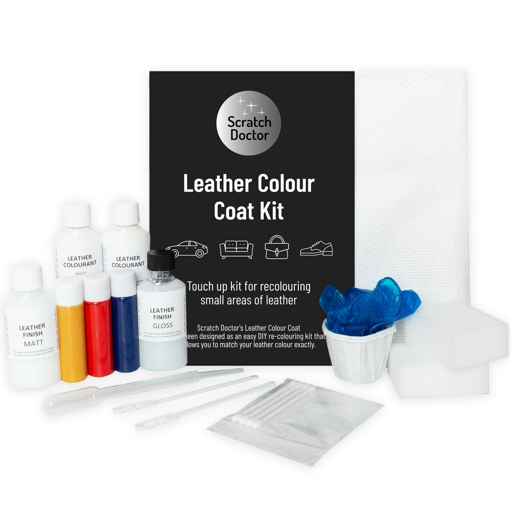 Leather Sofa Paint Kit: DARK BROWN Leather Colour Coat Re-Colouring Kit / Dye