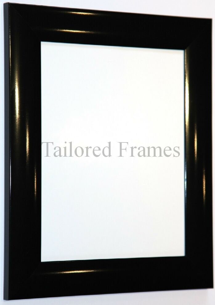 gloss black and gloss white picture frames  available all sizes   new