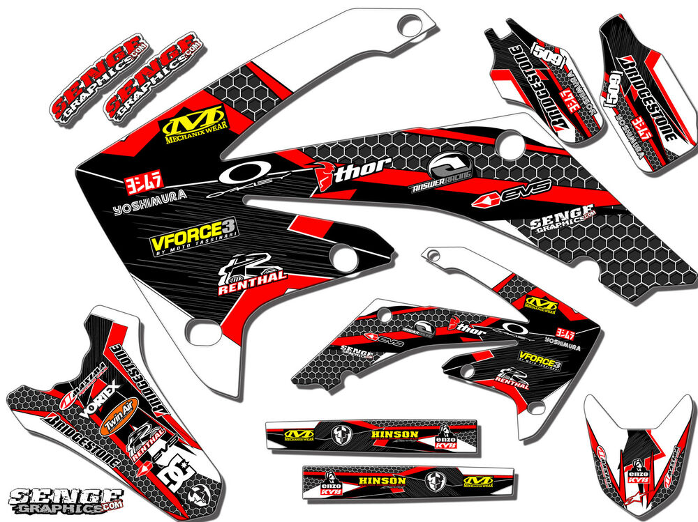 1995 1996 cr 250 graphics kit cr250 cr250r r 250r deco for Sticker deco