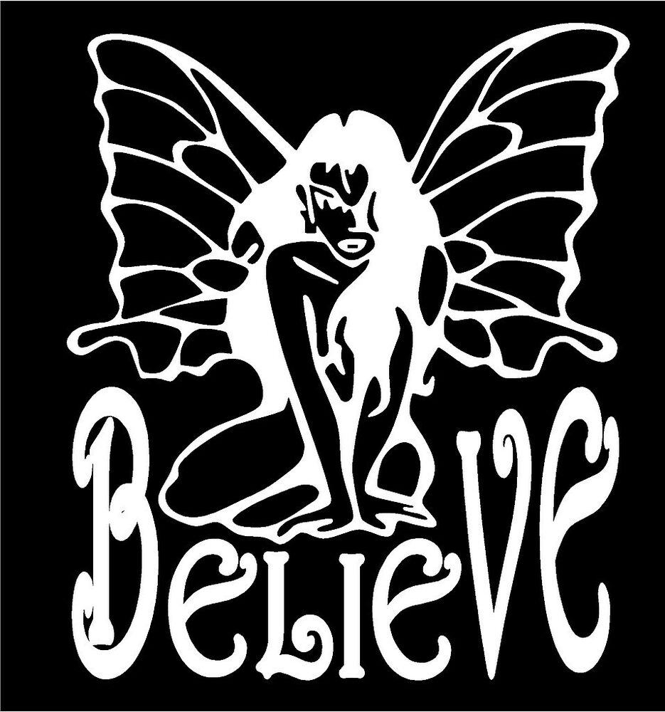 Vinyl Window Decals : Believe fairy decal sexy pixie sprite graphic car truck