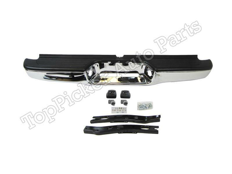 For 95 04 Tacoma Rear Step Bumper Chrome Assy With Bracket