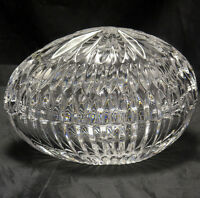 CRYSTAL TRINKET BOX EGG SHAPED Lift off Lid Unmarked