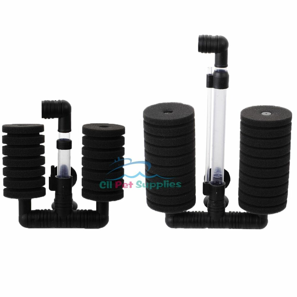 Bio sponge filter betta fry shrimp aquarium fish tank for Betta fish tank with filter