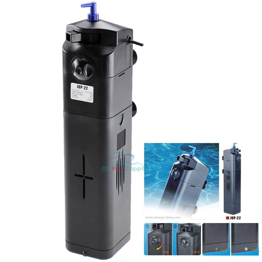 New design 9w uv sterilizer w adjustable pump filter 75 for How to make a fish tank filter