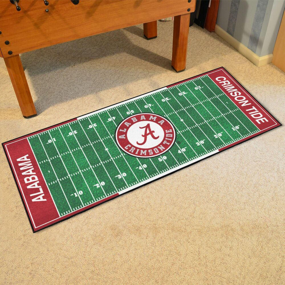 "Alabama Crimson Tide 30"" X 72"" Football Field Runner Area"
