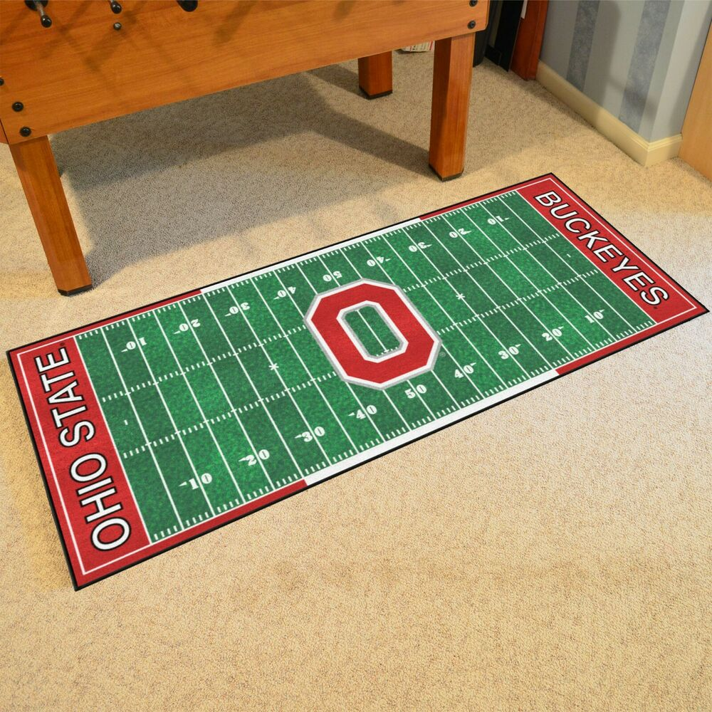 "Ohio State Buckeyes 30"" X 72"" Football Field Runner Area"