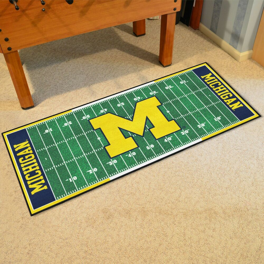 "Michigan Wolverines 30"" X 72"" Football Field Runner Area"
