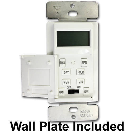 Wall Light With Timer : 7-Day In Wall Programmable Digital Timer Security Light/Porch Light Timer Switch eBay