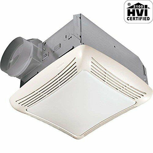 bathroom exhaust fan light cover nutone 763 50 cfm fan light with transparent polymeric 22072