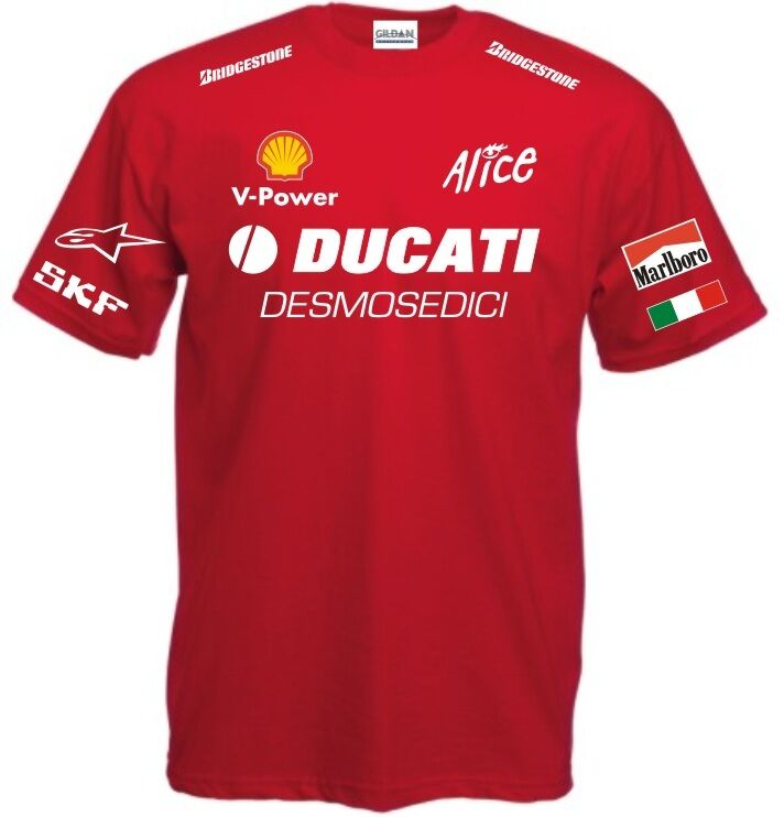 t shirt ducati desmosedici alfa romeo polo felpa maglietta maglia valentino fiat ebay. Black Bedroom Furniture Sets. Home Design Ideas