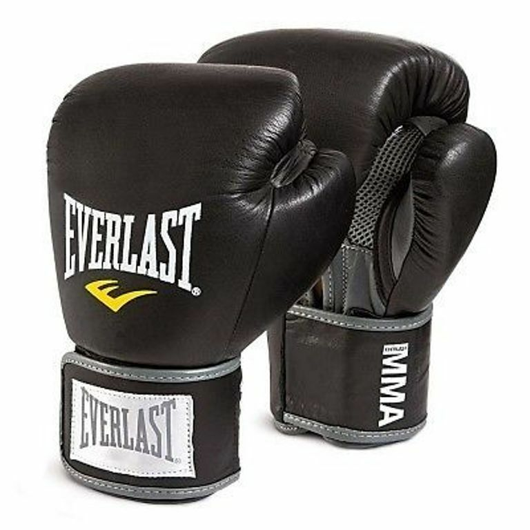 Everlast Boxing MMA Leather Gloves Thai Style 10 oz,12 oz ...