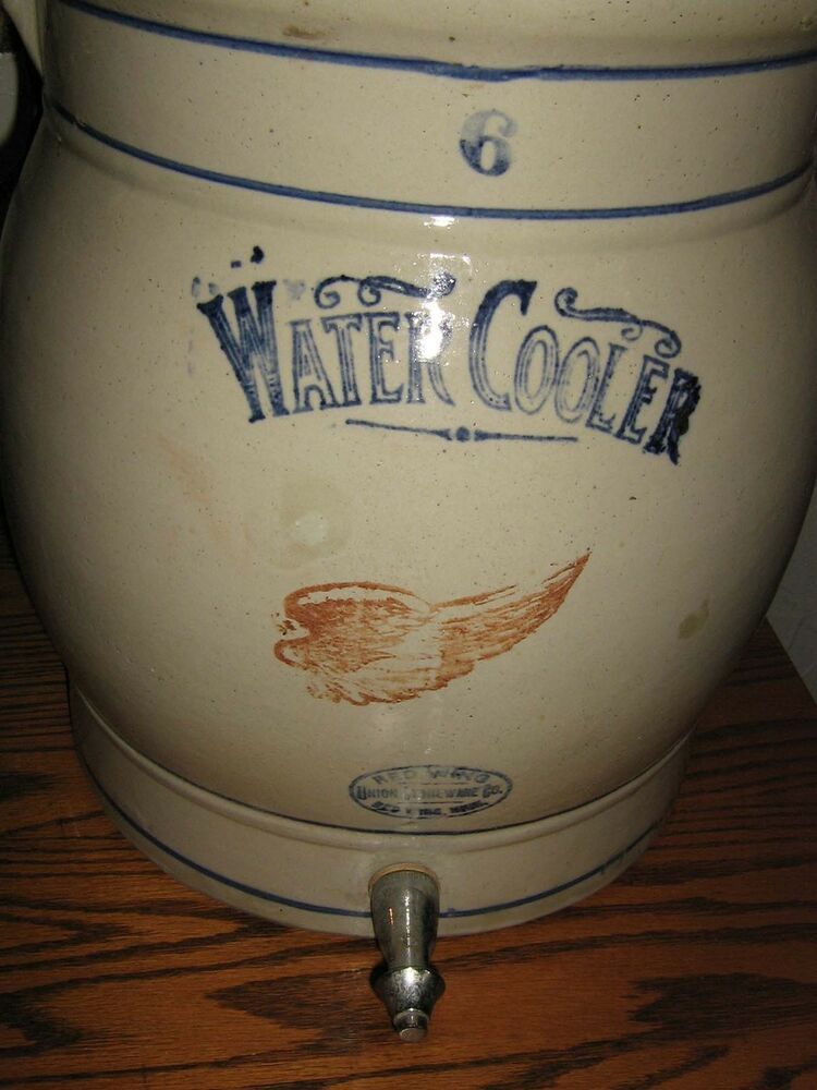 6 Gallon Red Wing Water Cooler Stoneware Crock Amp Spigot