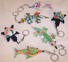 6 ASST CLOTH SAND PET KEY CHAINS fabric novelty pets keychain toy men ladies new