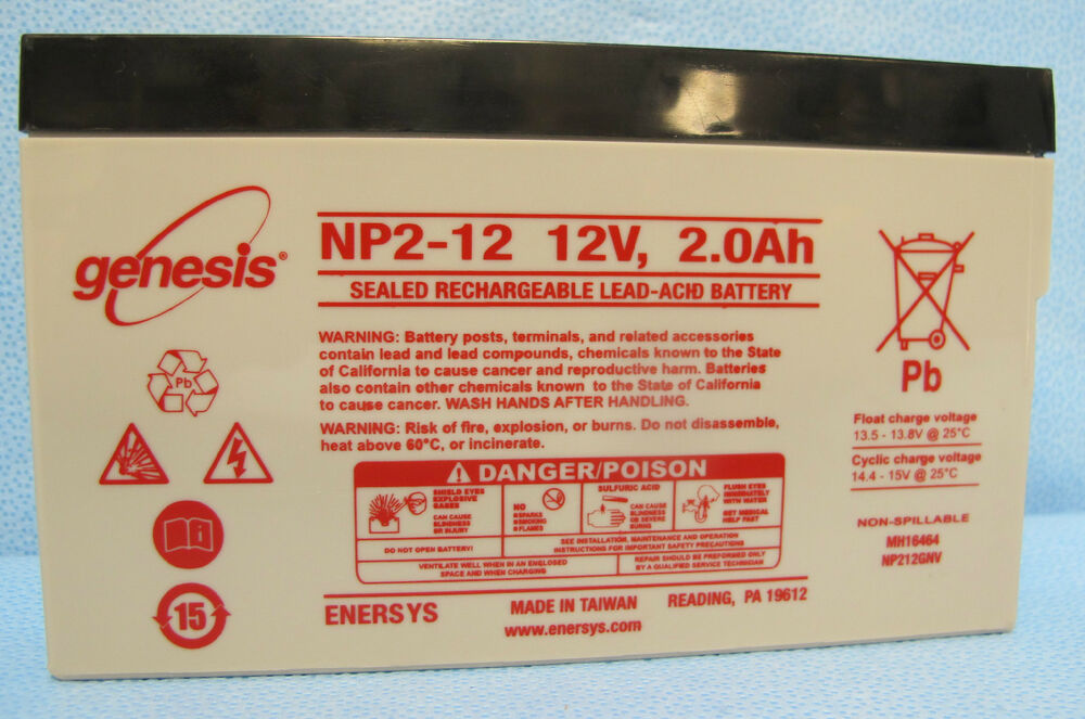 Medical Battery Baxter 6201 Np2 12 Genesis Yuasa Wka12