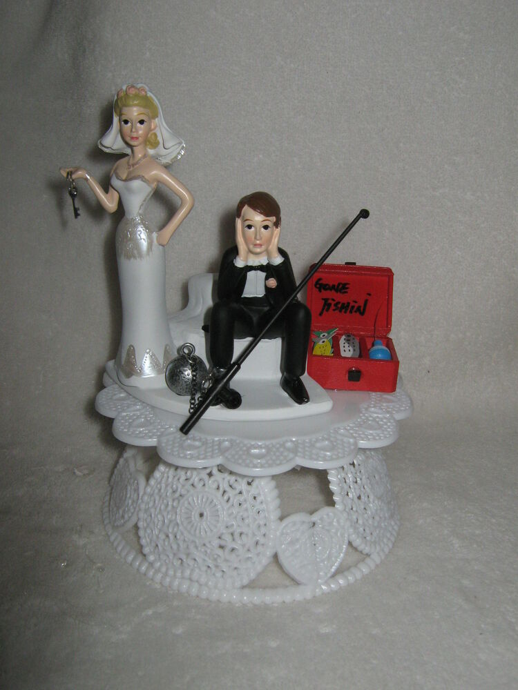 Wedding reception party no fishing cake topper ball for Fishing cake toppers