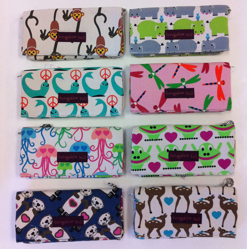 Bungalow 360 Wallets: BUNGALOW 360 Canvas Wallet Purse Bag ( 8 Styles To Choose