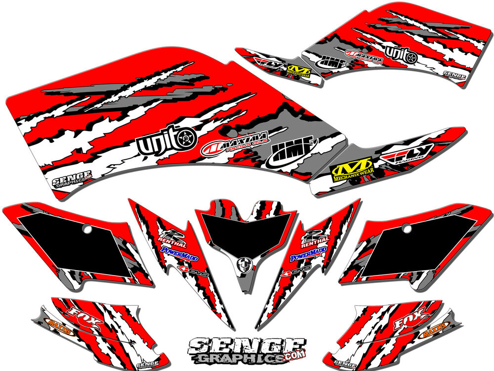 Kfx450r kfx 450r 450 r kawasaki graphics kit decals deco for Sticker deco