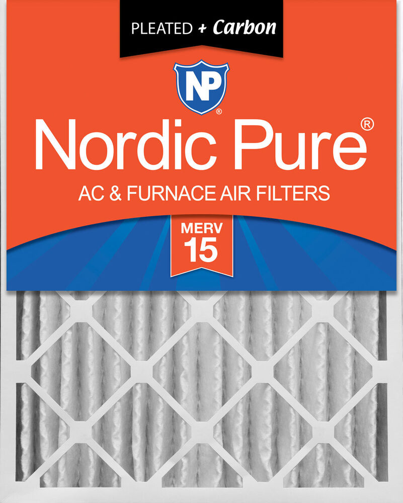 Nordic Pure 20x25x4 Pleated Air Filters Merv 15 Plus