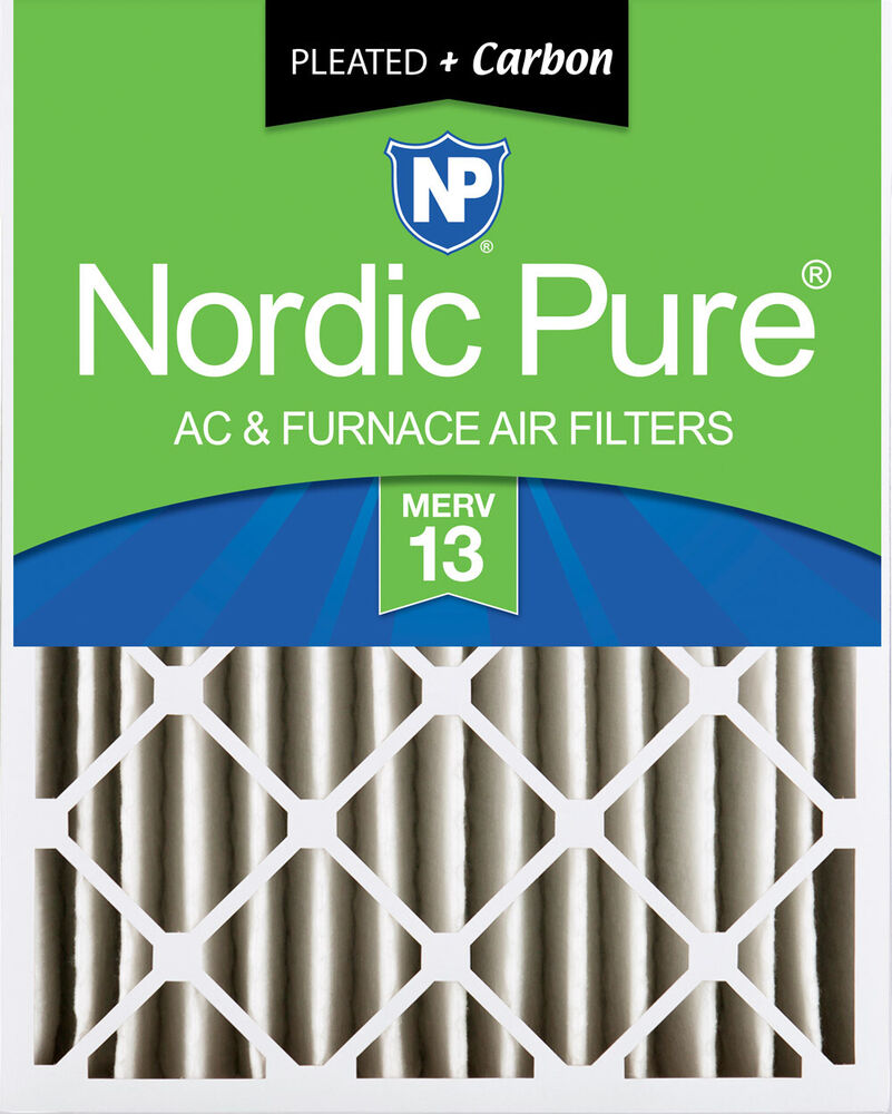 Nordic Pure 20x25x4 Pleated Air Filters Merv 13 Plus