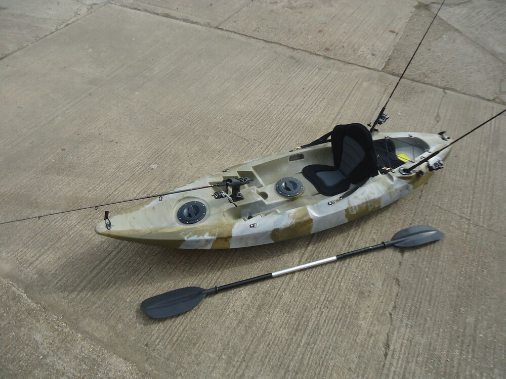 Sit on top fishing kayak canoe galaxy model ebay for Best canoe for fishing