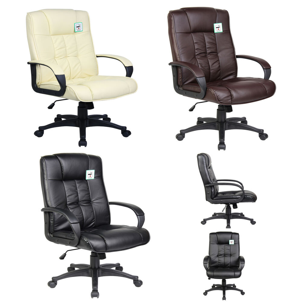 new swivel executive office furniture computer desk office chair in pu