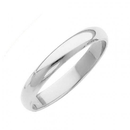 2 0 Mm Bands: 2mm Plain 14K Solid White Gold Wedding Band Ring, Sizes 5