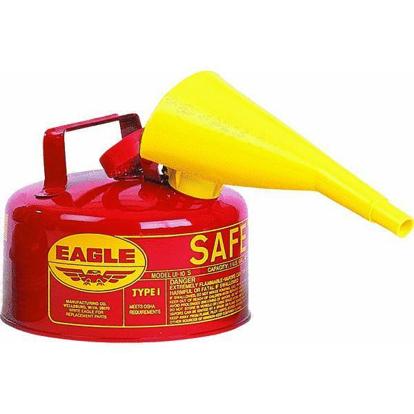 Type 1 Red Metal Steel Saftey Gas Can Container 1 Gallon ...