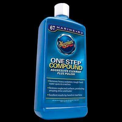 meguiar's one step compound. cleaner plus polish. boat