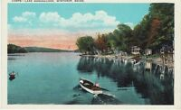 Antique POSTCARD c1910-20s Camps Lake Maranacook WINTHROP, ME MAINE Unused