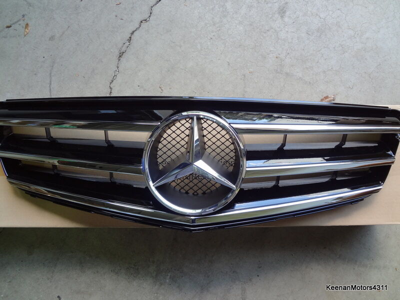 Genuine oem mercedes benz c class w204 steel grey painted for Genuine mercedes benz parts