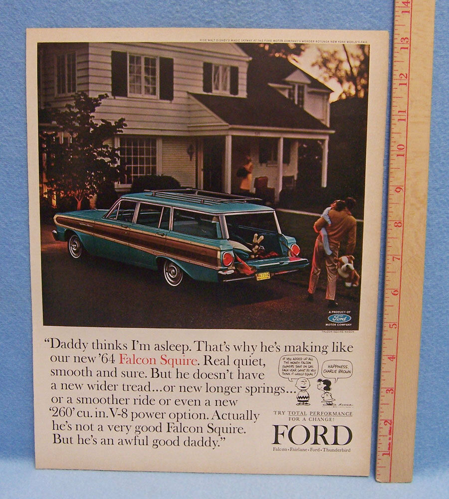 Vintage 1964 Magazine Ad For Ford Motor Company On The