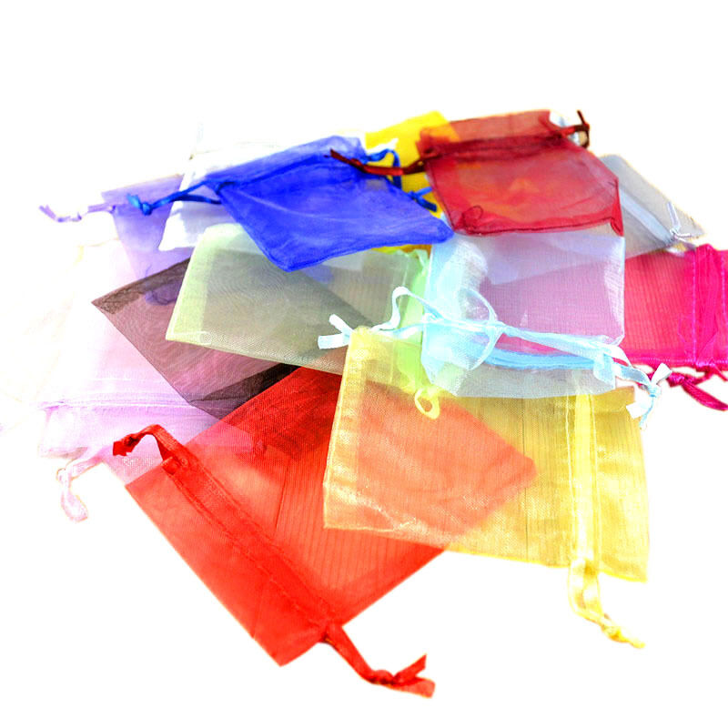 Wedding Gift Bags Wholesale: Wholesale Lots 100pcs Simple Color Wedding Silk Jewelry