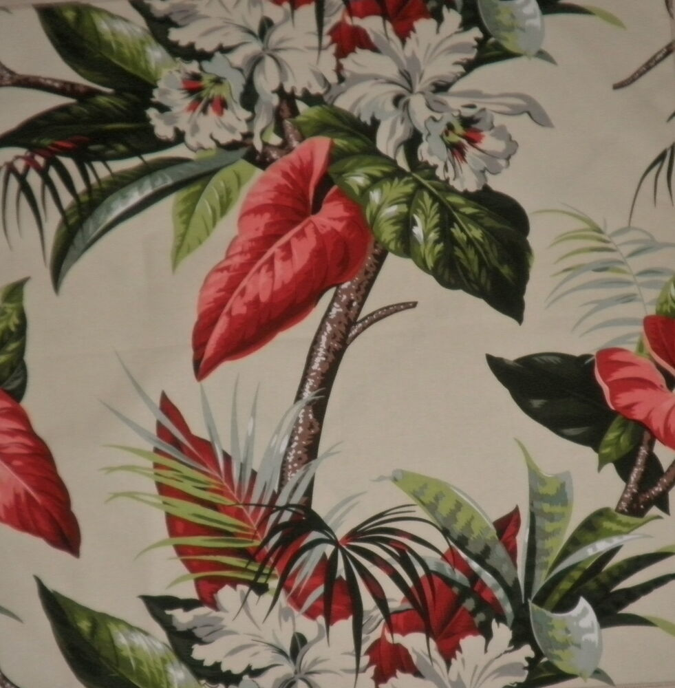Gaston y daniela amazonia cotton print tropical red green - Gaston y daniela cortinas ...