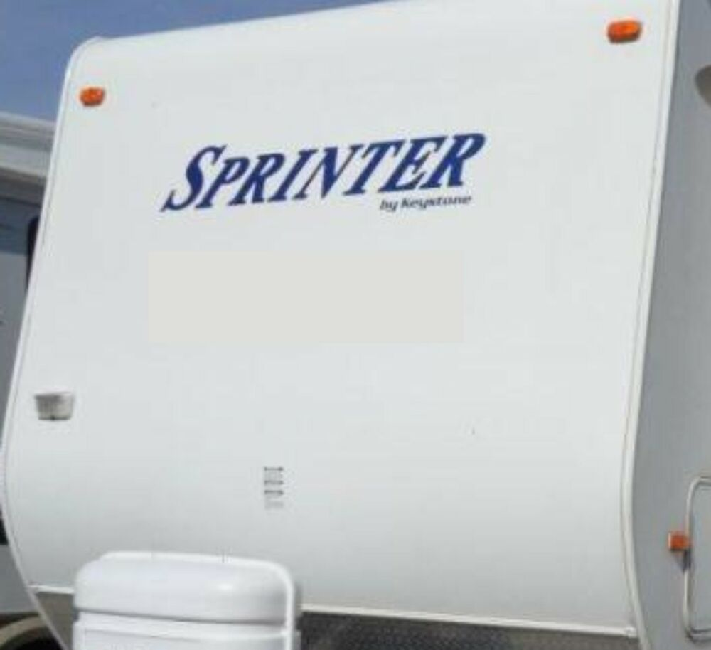 Sprinter by keystone decals rv sticker decal graphics for Decals for rv mural
