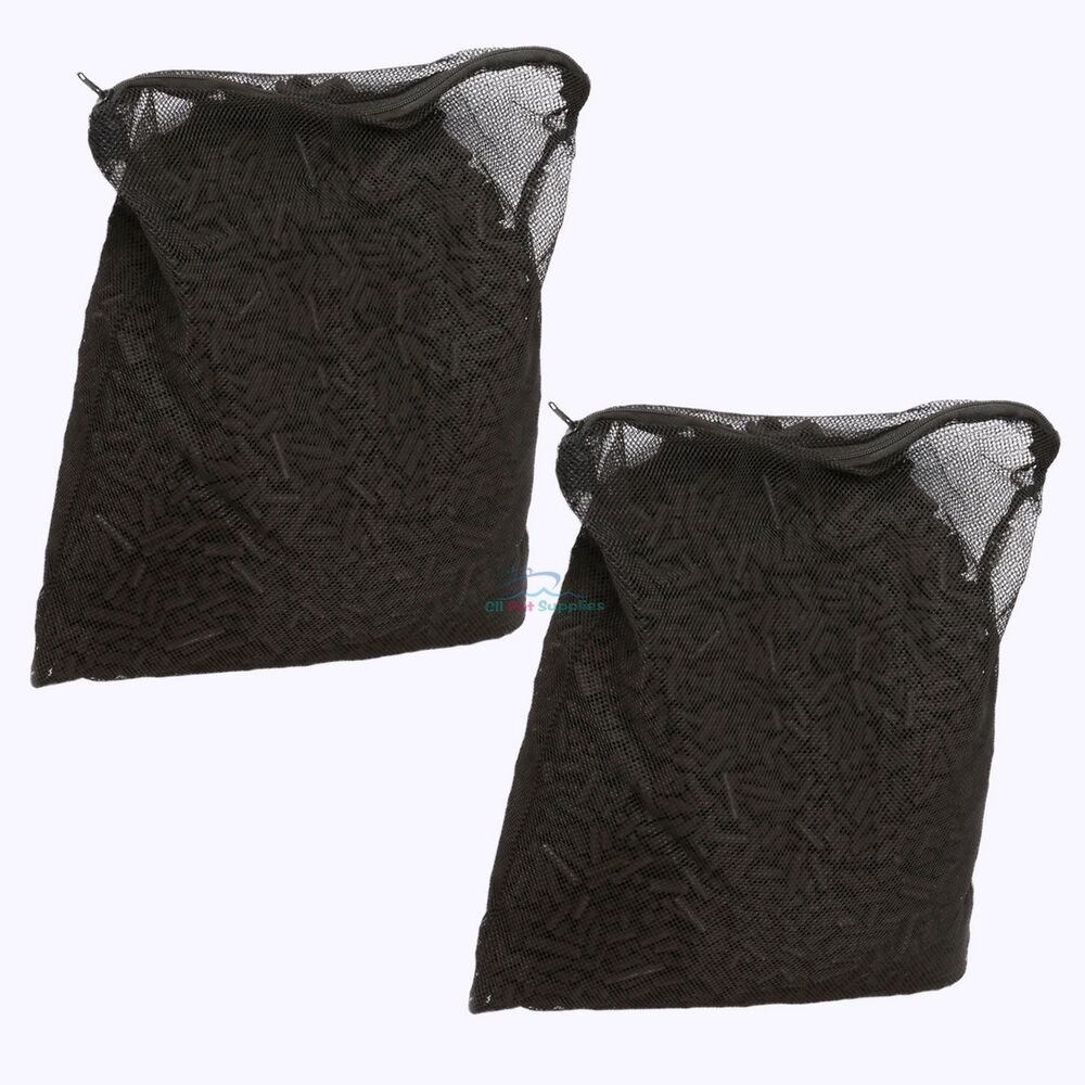 10 lbs activated carbon in 2 media bags for aquarium fish for Pond filter bag
