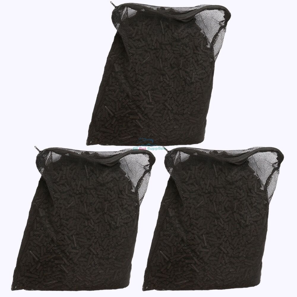 15 lbs activated carbon in 3 media bags for aquarium fish for Pond filter bag
