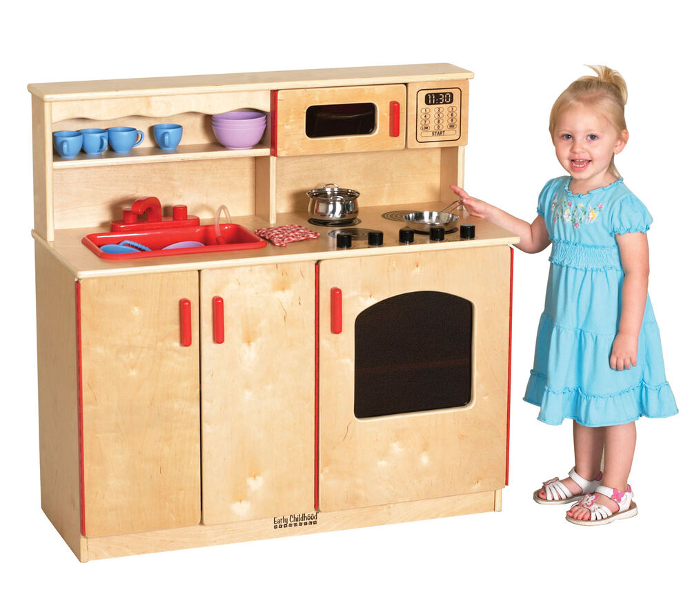 preschool play kitchen ecr4kids preschool activity 4 in 1 play kitchen center w 897