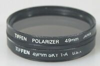 49MM POLARIZER AND SKY 1-A FILTERS