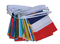 15m Multi World Nations Bunting 50 Olympic Countries Polyester Flags Banner