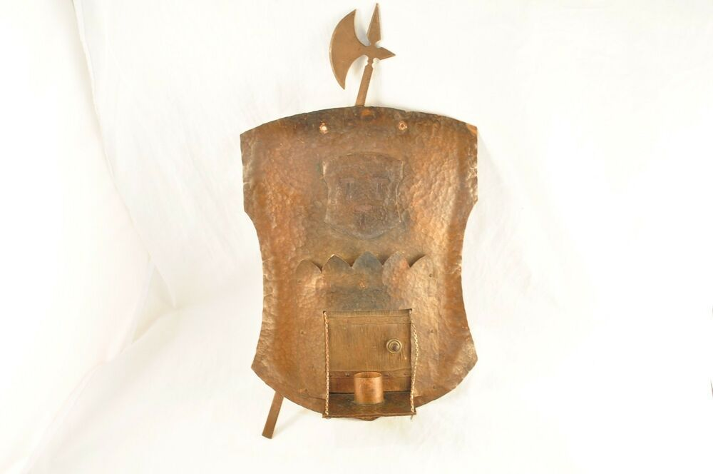 Vintage Copper Wall Sconces : Vintage Arts and Crafts Hammered Copper Wall Sconce eBay