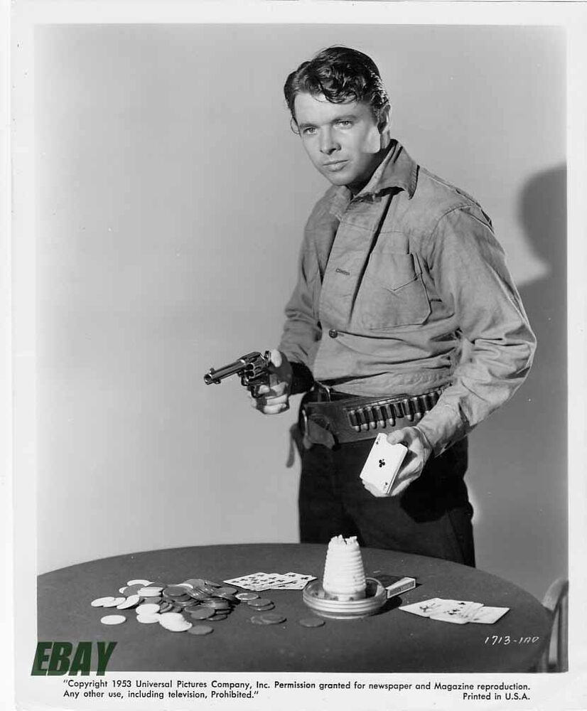 Audie Murphy Sexy W Cards And Gun Vintage Photo Ebay