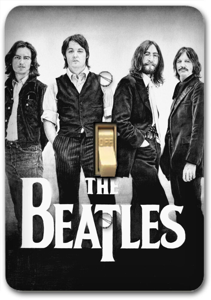 Beatles Music Band Light Metal Switch Plate Cover Home
