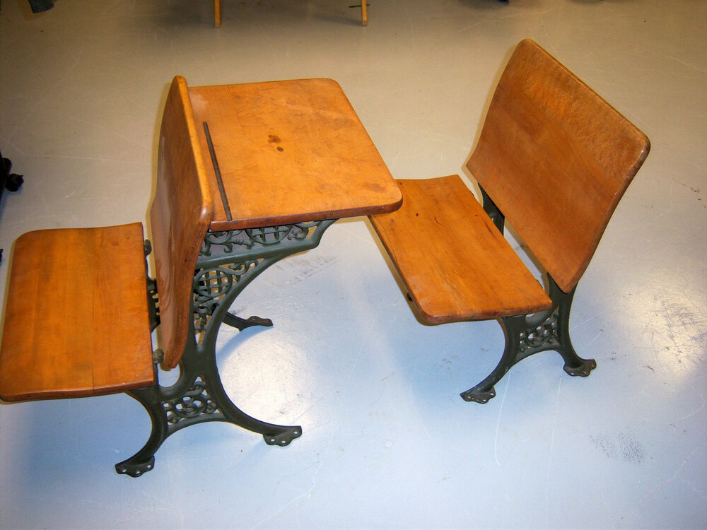 antique cast iron and wood school desk mint condition ebay 87974