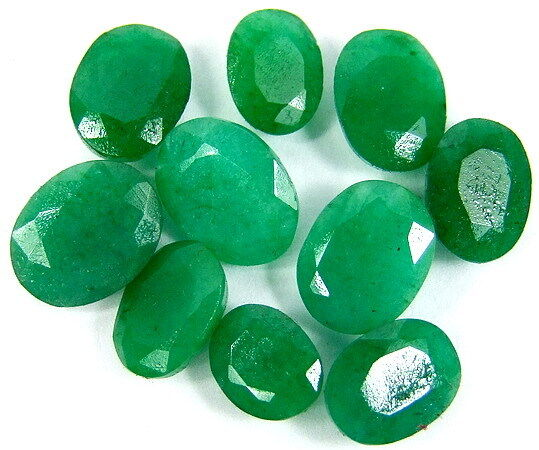 40 Ct 10 Stones Fine Natural Green Brazil Emerald Faceted