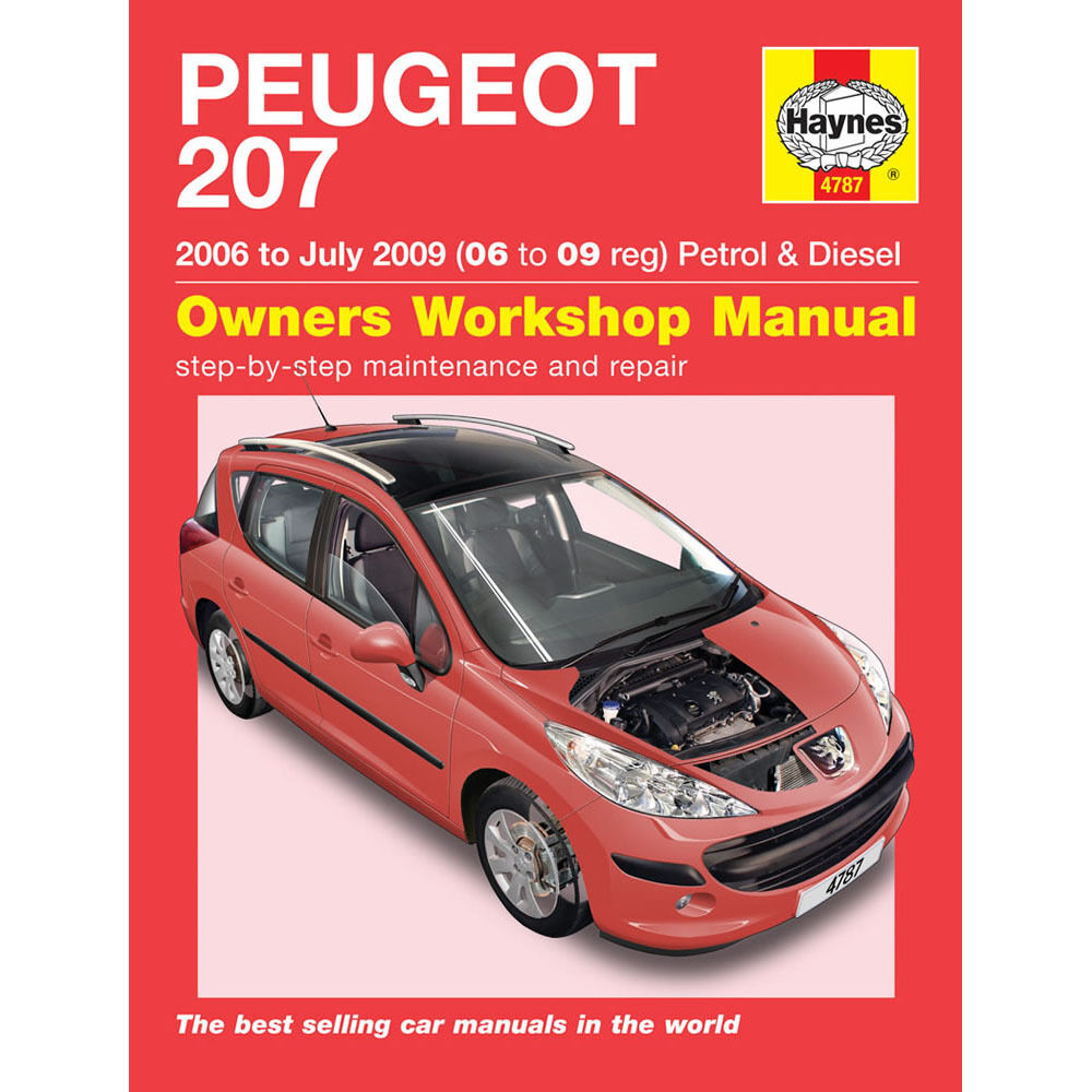 Peugeot 207 Haynes Manual 2006-09 1.4 1.6 Petrol & Diesel Workshop Manual |  eBay