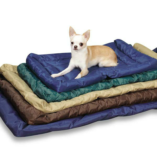 Dog beds indoor outdoor crate mats water resistant durable for Puppy proof dog bed