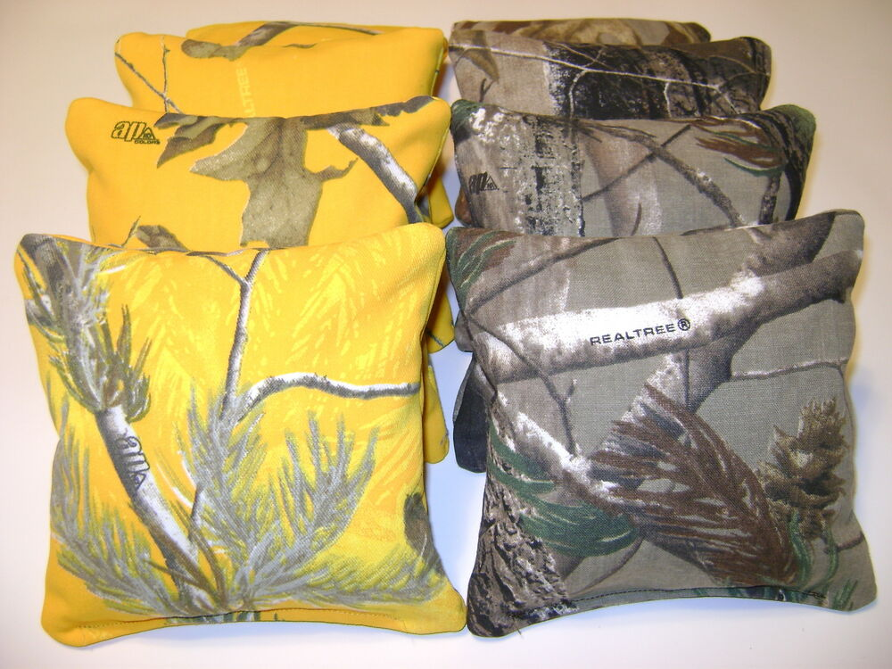 8 Cornhole Bean Bag Baggo Corn Hole Realtree Camo Y G Ebay