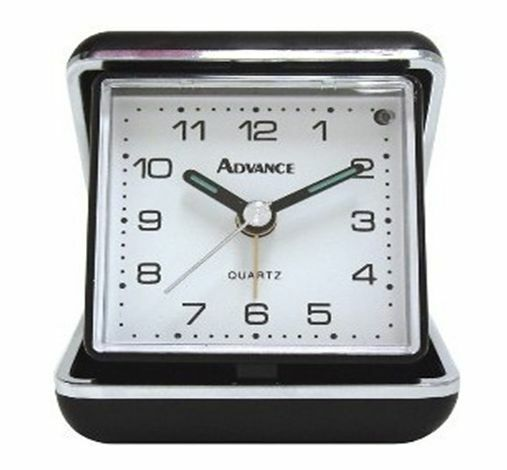 advance 3123 battery powered folding analog quartz travel alarm clock ebay. Black Bedroom Furniture Sets. Home Design Ideas