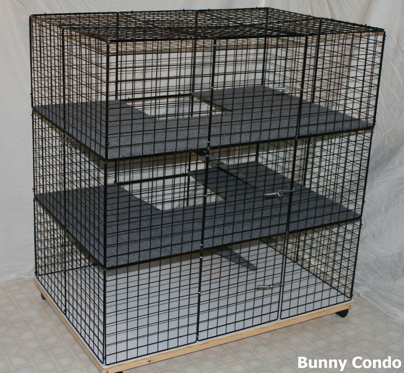 rabbit cage indoor large bunny condo deluxe hutch pet. Black Bedroom Furniture Sets. Home Design Ideas