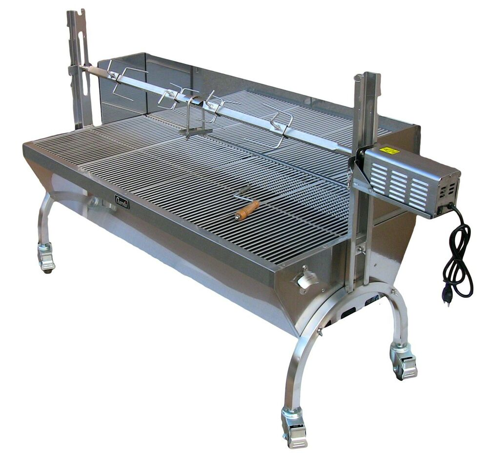Stainless Steel Bbq Pig Lamb Goat Chicken Spit Roaster